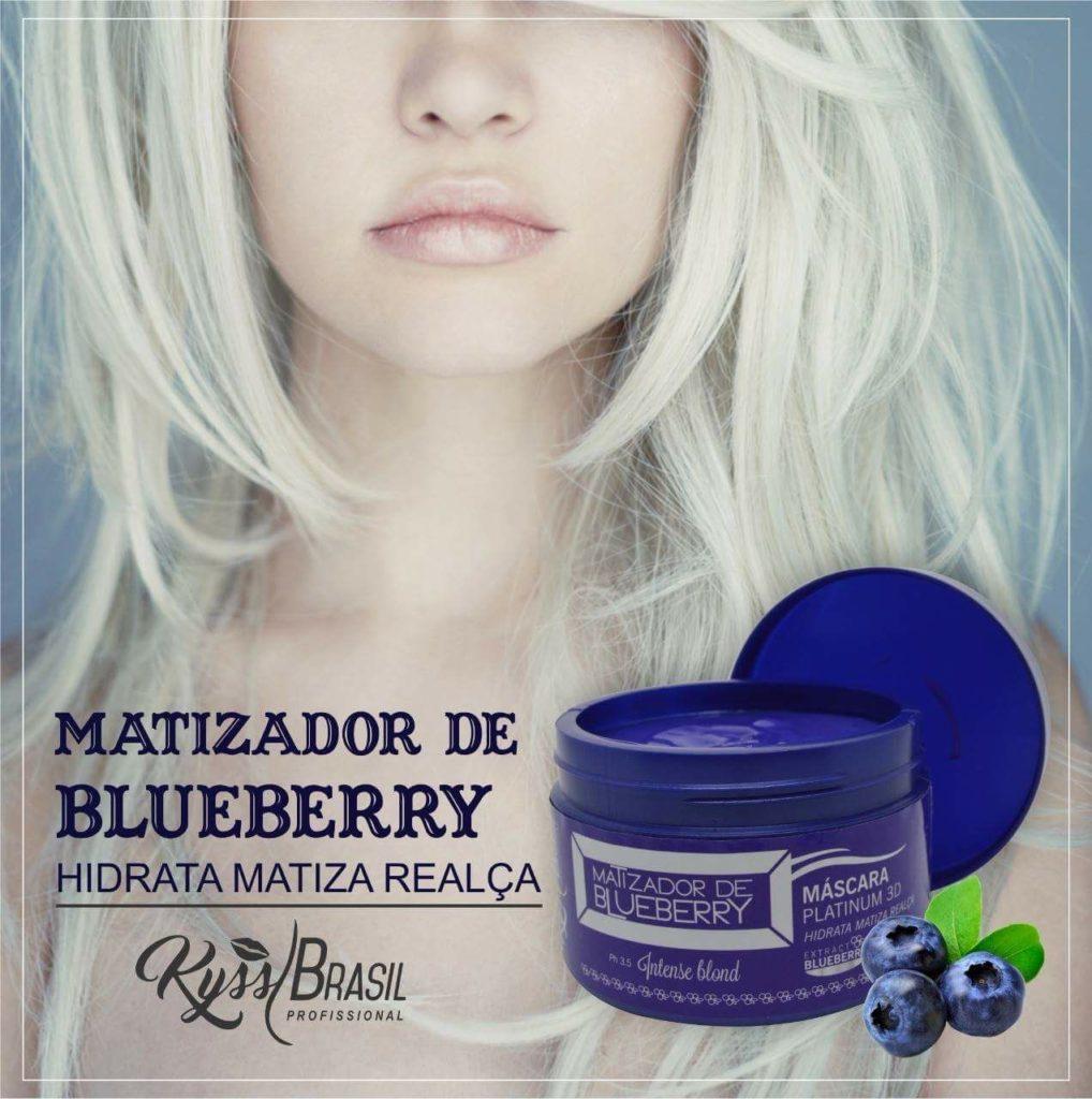Máscara Platinum 3D Matizador de Blueberry