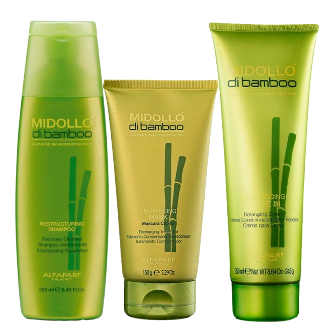 Kit Midollo Di Bamboo-Mask-Leave-in-Shampoo