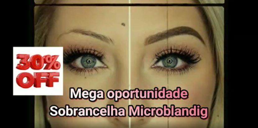 Promoção Sobrancelha Microblanding